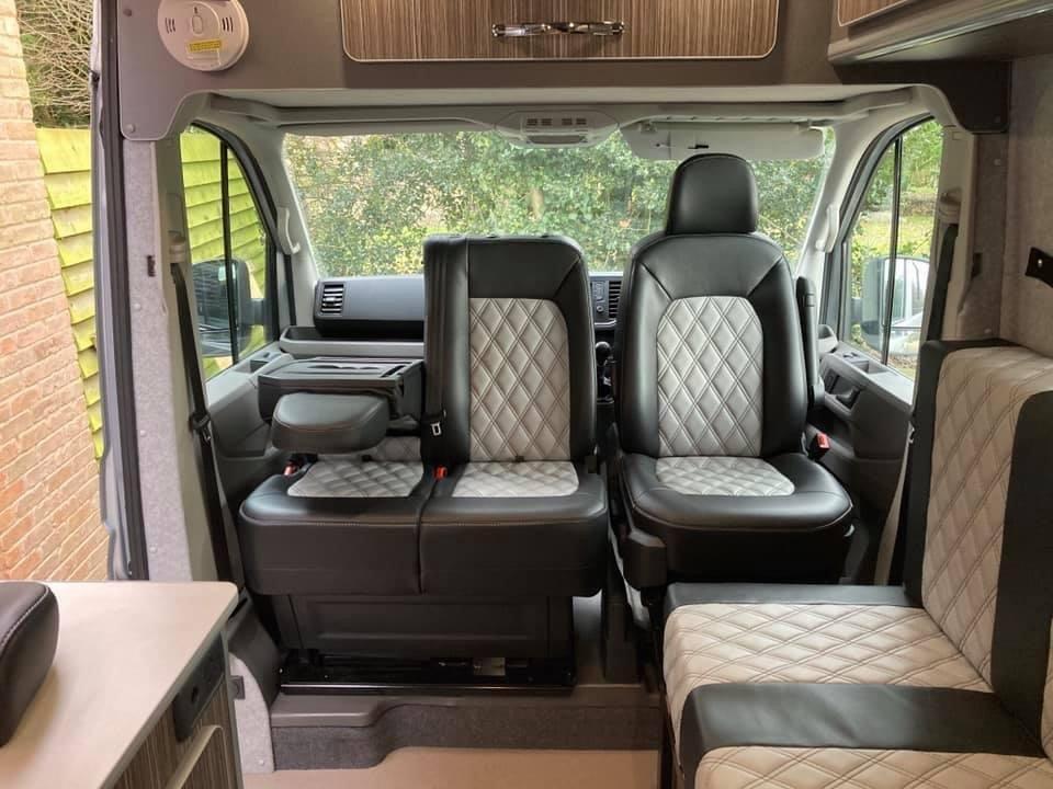 Inside Camper Van
